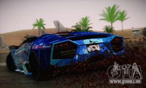 Lamborghini Reventon Black Heart Edition pour GTA San Andreas laissé vue