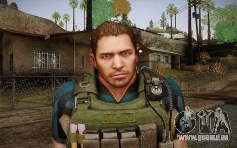 Chris Redfield from Resident Evil 6 für GTA San Andreas dritten Screenshot