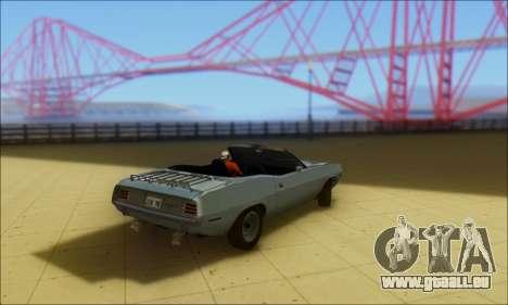 Plymouth Cuda 1970 Stock pour GTA San Andreas laissé vue