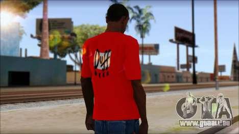 Duff T-Shirt pour GTA San Andreas deuxième écran