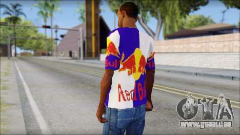 Red Bull T-Shirt für GTA San Andreas zweiten Screenshot
