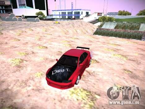 Audi A4 Extrême pour GTA San Andreas sur la vue arrière gauche