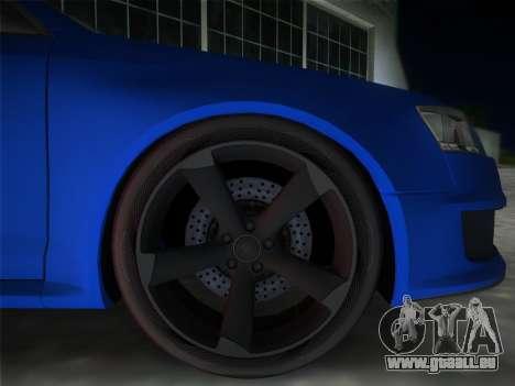 Audi RS6 pour GTA Vice City sur la vue arrière gauche
