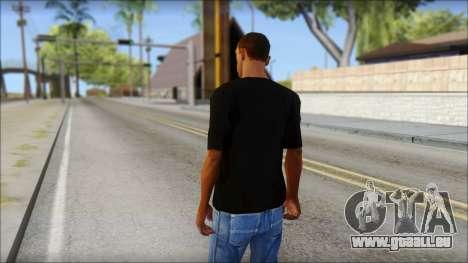 Infected Rain T-Shirt pour GTA San Andreas deuxième écran