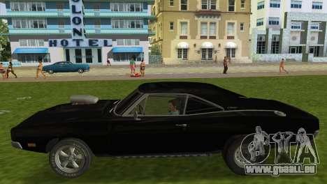Dodge Charger RT Street Drag 1969 pour une vue GTA Vice City de la droite