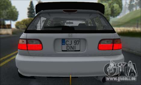 Honda Civic 1995 pour GTA San Andreas salon