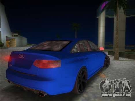 Audi RS6 pour une vue GTA Vice City de la gauche