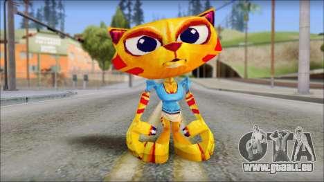 Juliette the Cat from Fur Fighters Playable für GTA San Andreas zweiten Screenshot