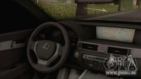 Lexus GS350 für GTA San Andreas zurück linke Ansicht