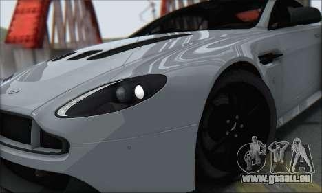 Aston Martin V12 Vantage S 2013 pour GTA San Andreas vue de droite