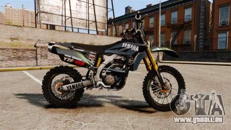 Yamaha YZF-450 v1.12 für GTA 4 linke Ansicht