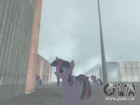 Twilight Sparkle pour GTA San Andreas quatrième écran