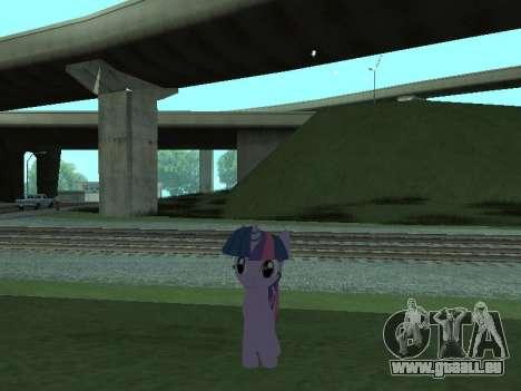Twilight Sparkle pour GTA San Andreas cinquième écran