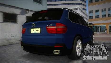 BMW X5 2009 pour une vue GTA Vice City de la gauche