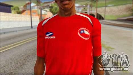Chile T-Shirt pour GTA San Andreas troisième écran