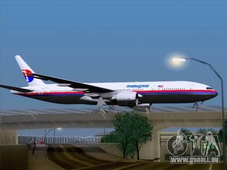 Boeing 777-2H6ER Malaysia Airlines pour GTA San Andreas vue de droite