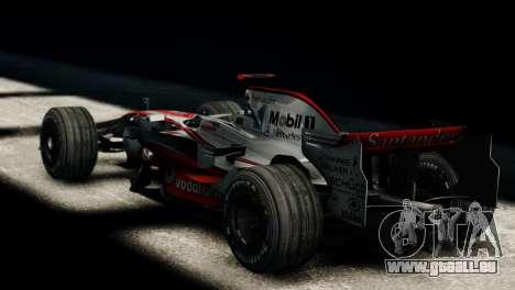 McLaren MP4-23 F1 Driving Style Anim für GTA 4 linke Ansicht