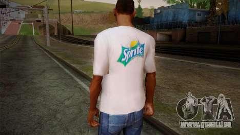 Sprite Shirt White pour GTA San Andreas deuxième écran