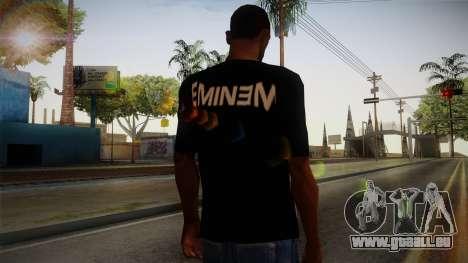 Eminem Fuck Off T-Shirt pour GTA San Andreas deuxième écran