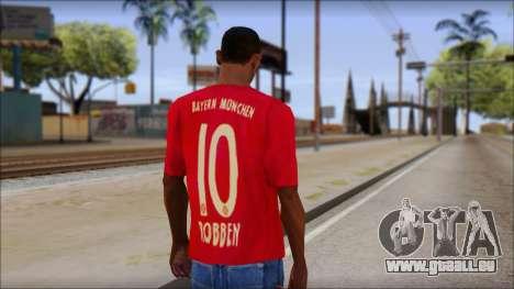 Bayern Munich 2013 T-Shirt pour GTA San Andreas deuxième écran