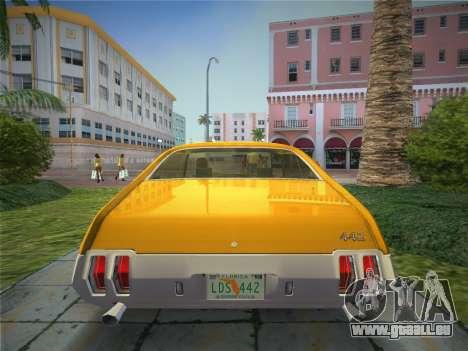 Oldsmobile 442 1970 pour GTA Vice City sur la vue arrière gauche