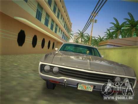 Dodge Polara 1971 für GTA Vice City zurück linke Ansicht