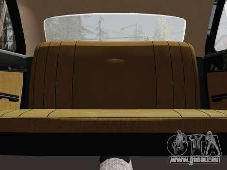 GAZ 24-01 Limousine pour GTA San Andreas vue intérieure