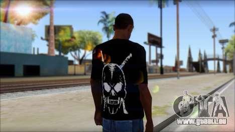 Black T-Shirt wBlack T-Shirt with middle finger pour GTA San Andreas deuxième écran