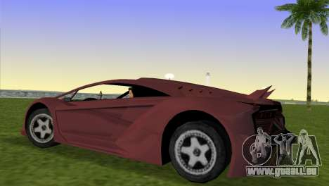 Zentorno from GTA 5 v2 pour une vue GTA Vice City de la gauche