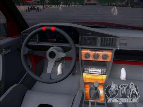 Mercedes Benz 190E Drift V8 für GTA San Andreas obere Ansicht