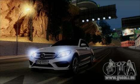 Mercedes-Benz C250 2014 V1.0 EU Plate für GTA San Andreas