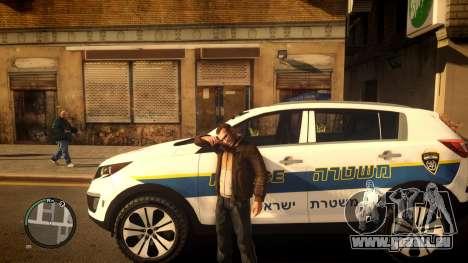 Kia Sportage Israel Police car (Mishtara) für GTA 4 linke Ansicht