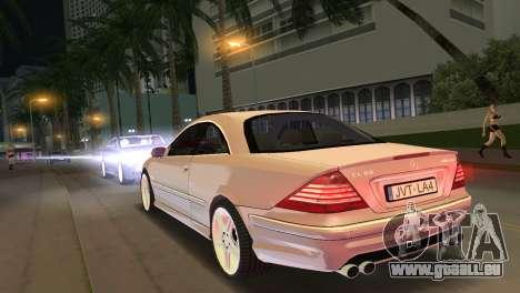 Mercedes-Benz CL65 AMG pour une vue GTA Vice City de la gauche