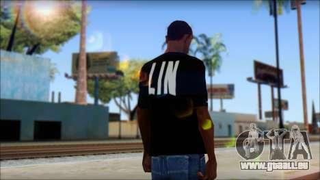 Jeremy Lin BAL-LIN T-Shirt für GTA San Andreas zweiten Screenshot