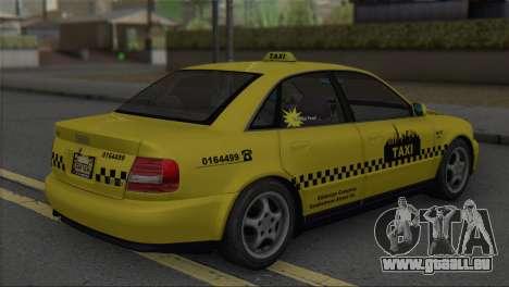 Audi A4 1.9 TDI 2000 Taxi pour GTA San Andreas laissé vue