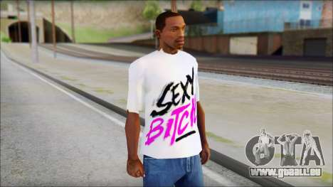 David Guetta Sexy Bitch T-Shirt pour GTA San Andreas