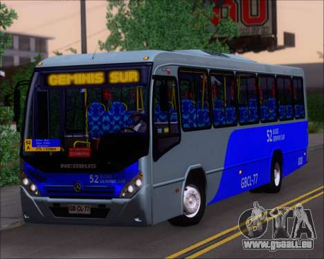 Neobus Spectrum City Mercedes Benz OF-1722 pour GTA San Andreas