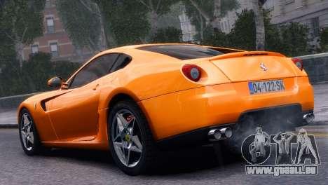 Ferrari 599 GTB Fiorano 2006 pour GTA 4 est une gauche