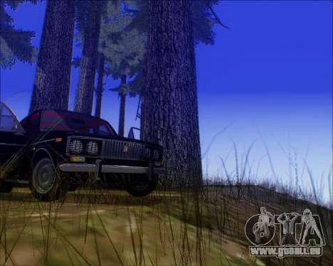 VAZ 2106 Accordables pour GTA San Andreas sur la vue arrière gauche