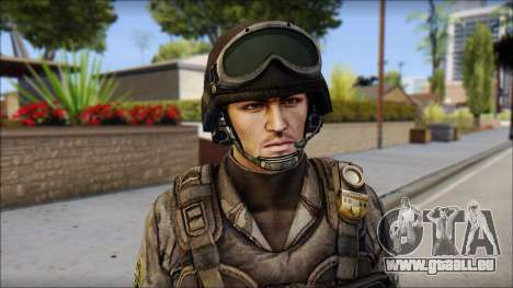 Urban GAFE from Soldier Front 2 pour GTA San Andreas troisième écran