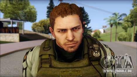 Chris Europa from Resident Evil 6 pour GTA San Andreas troisième écran