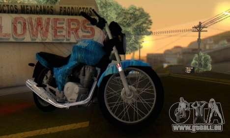 Yamaha YBR Blue Star für GTA San Andreas rechten Ansicht