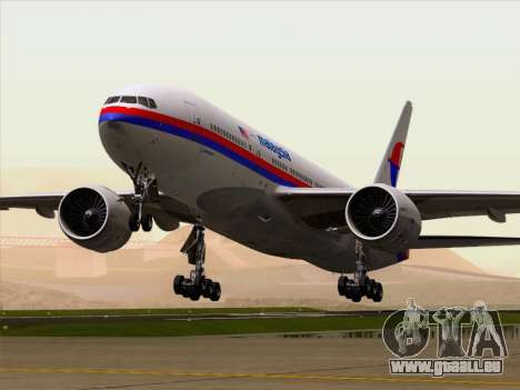 Boeing 777-2H6ER Malaysia Airlines pour GTA San Andreas