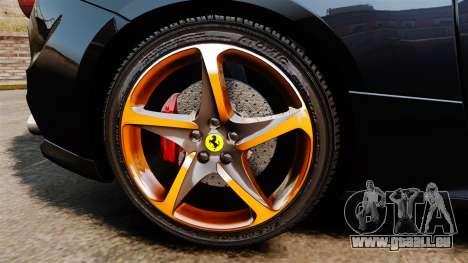 Ferrari FF 2011 pour GTA 4 Vue arrière