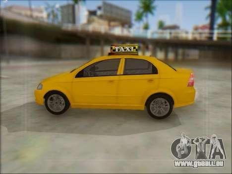 Chevrolet Aveo Taxi für GTA San Andreas rechten Ansicht