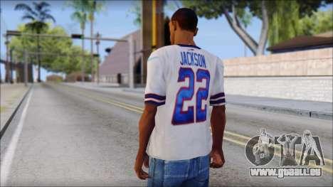 NY Buffalo Bills White pour GTA San Andreas deuxième écran