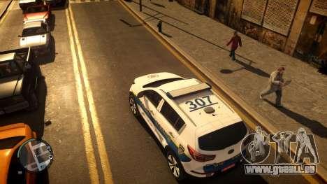 Kia Sportage Israel Police car (Mishtara) pour GTA 4 Vue arrière de la gauche