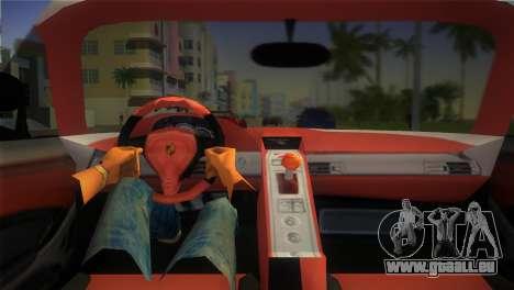 Porsche Carrera GT Police pour une vue GTA Vice City de la droite