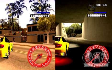 Compteur De Vitesse Concept StyleV4x3 pour GTA San Andreas deuxième écran