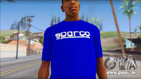 Sparco T-Shirt für GTA San Andreas dritten Screenshot